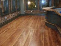 Floor in main bar looks amazing.